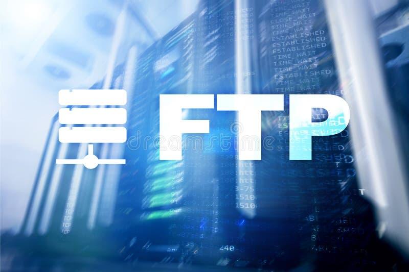 Ftp - Protocolo de transferência de arquivos Conceito da tecnologia do Internet e de comunicação ilustração royalty free