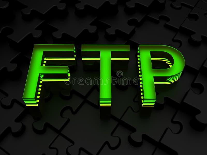 FTP (protokoll för mappöverföring) stock illustrationer