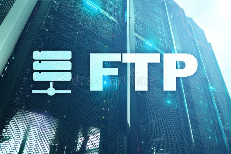 FTP - Protokoll för mappöverföring Internet- och kommunikationsteknologibegrepp royaltyfri illustrationer