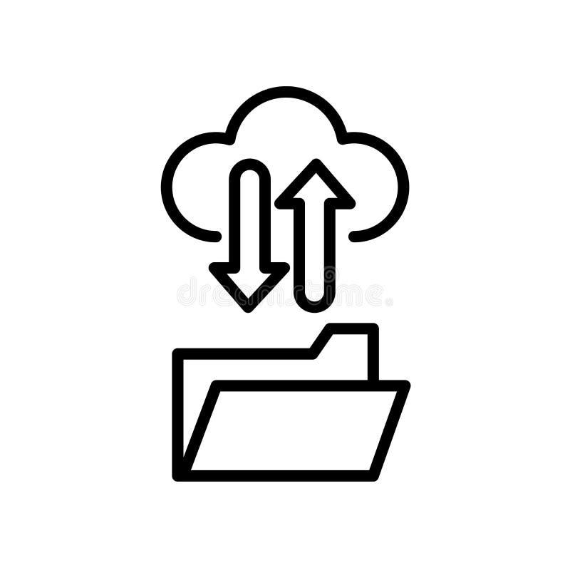 ftp-symbol som isoleras på vit bakgrund stock illustrationer