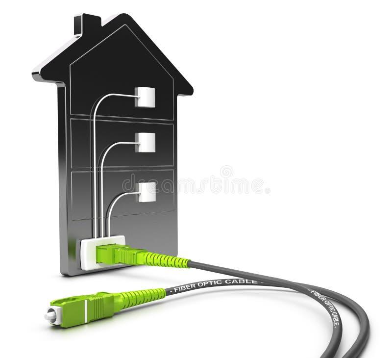 FTTB, fibra à construção ilustração stock