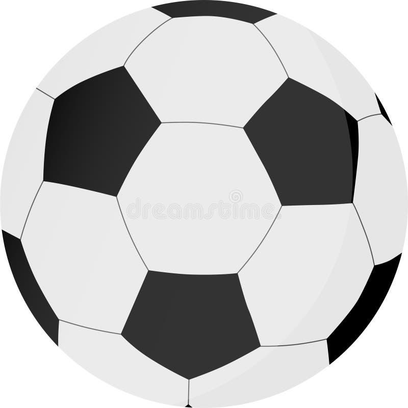 Fuß-Ball oder Fußball auf weißem Hintergrund vektor abbildung