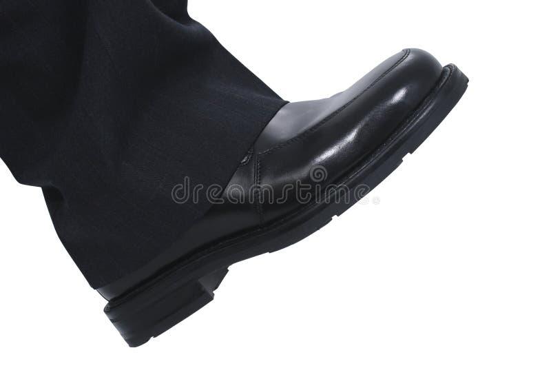 Fuß des Geschäftsmannes lizenzfreies stockfoto
