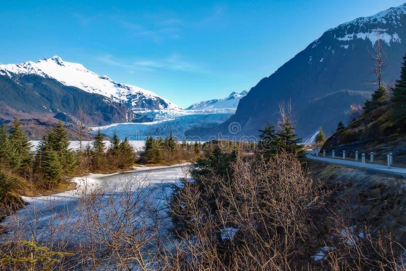 Fuß des Gletschers lizenzfreie stockfotos