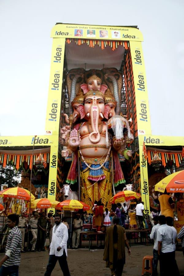 59 Fuß hoher Lord Ganesh-Idol lizenzfreies stockfoto
