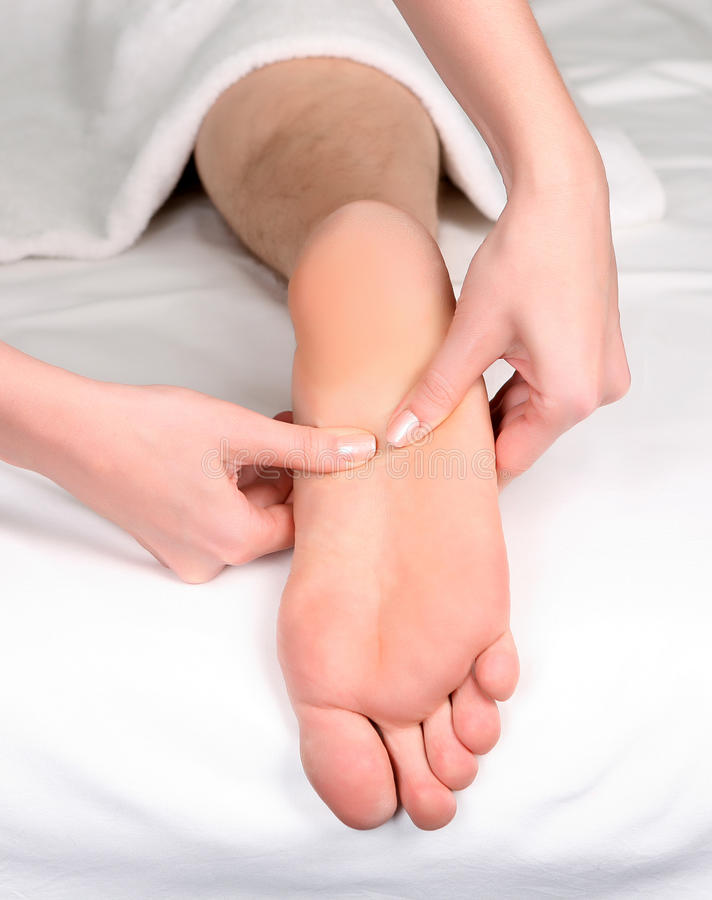 Fuß reflexology Massage stockfotos