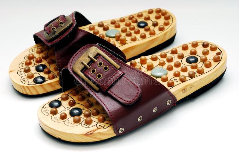 Fuß reflexology Schuhe stockbilder