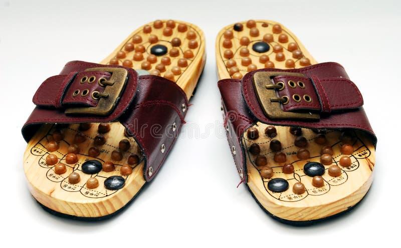 Fuß reflexology Schuhe lizenzfreies stockfoto