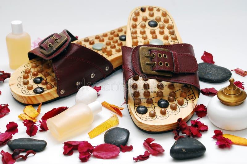 Fuß reflexology Schuhe stockfotografie