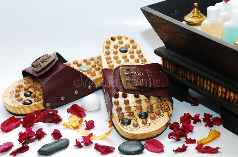Fuß reflexology Schuhe stockfoto