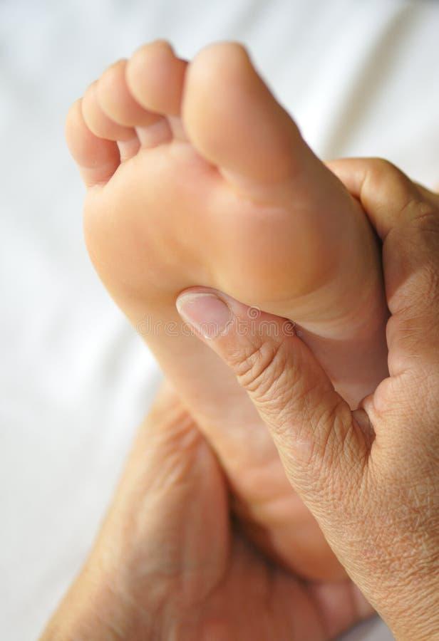 Fuß Reflexology Serie I lizenzfreie stockfotografie