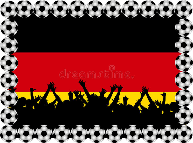 Download Fußbalgebläse Deutschland stock abbildung. Illustration von sport - 12200261