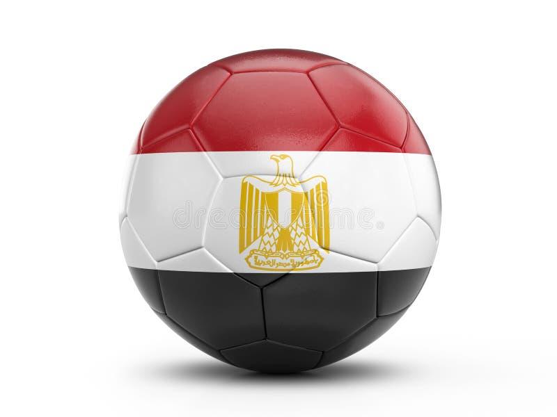 Fußball-Ägypten-Flagge stock abbildung