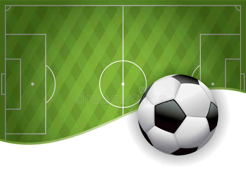 Fußball-amerikanischer Fußballplatz und Ball-Hintergrund vektor abbildung