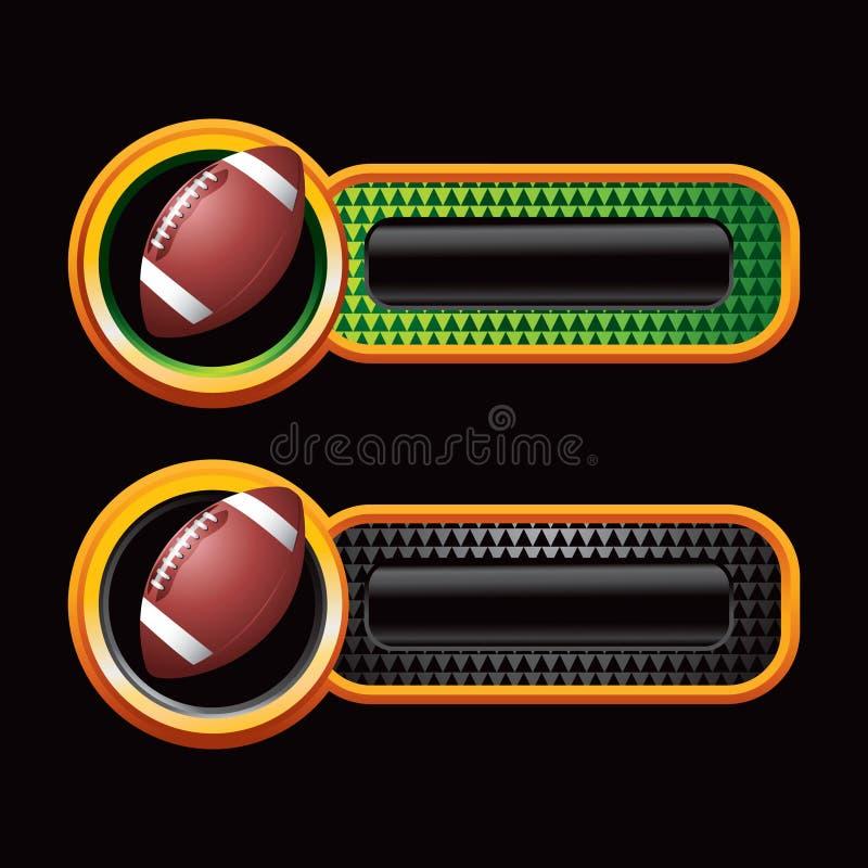 Fußball auf checkered Tabulatoren stock abbildung