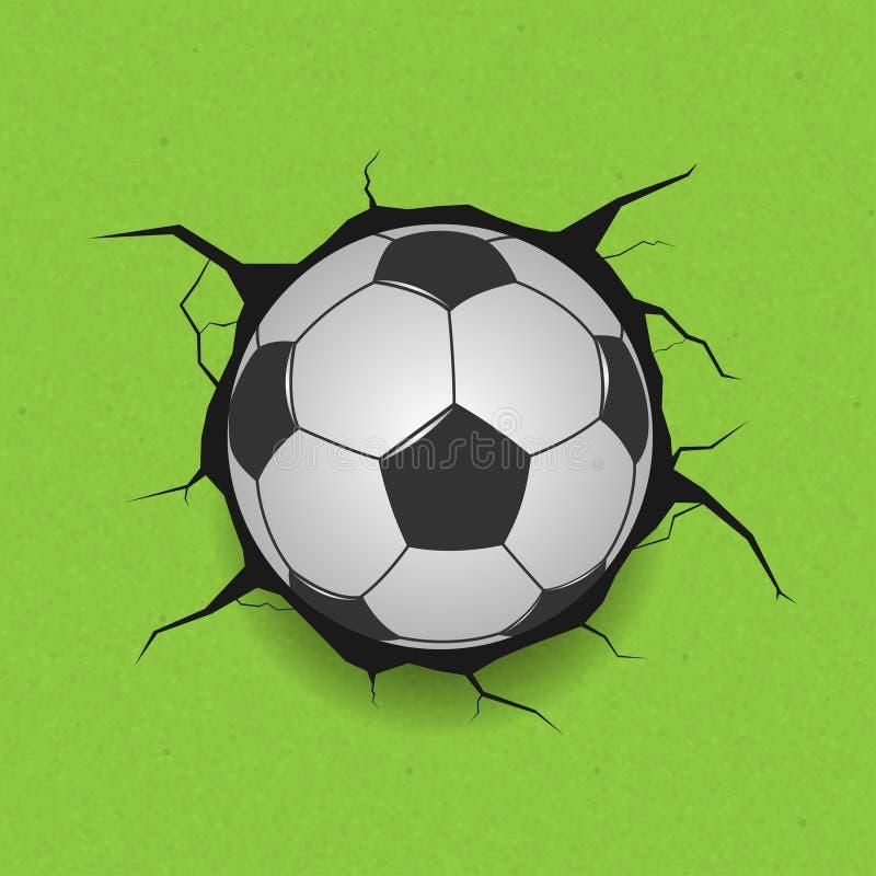 Fußball auf gebrochenem Hintergrund vektor abbildung