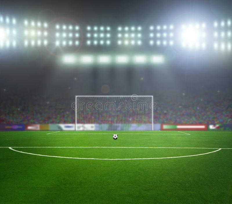 Fußball bal.football, lizenzfreie stockfotografie