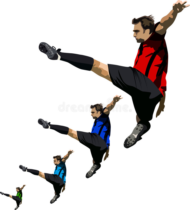 Fußball-Ballett vektor abbildung