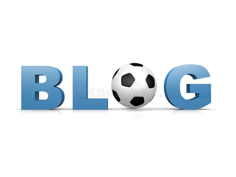 Fußball-Blog vektor abbildung