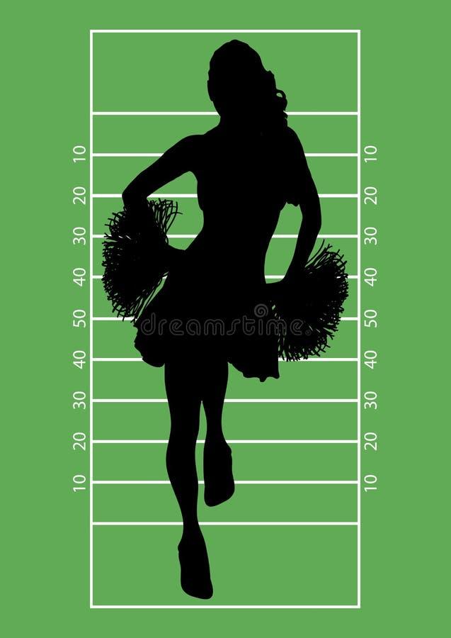 Fußball-Cheerleader 1 vektor abbildung