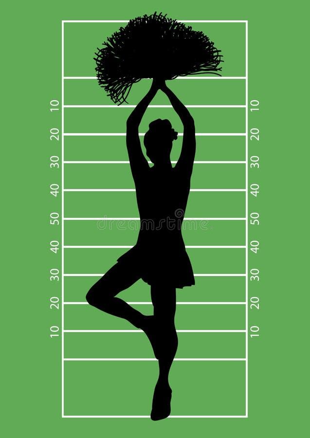 Fußball-Cheerleader 3 stock abbildung