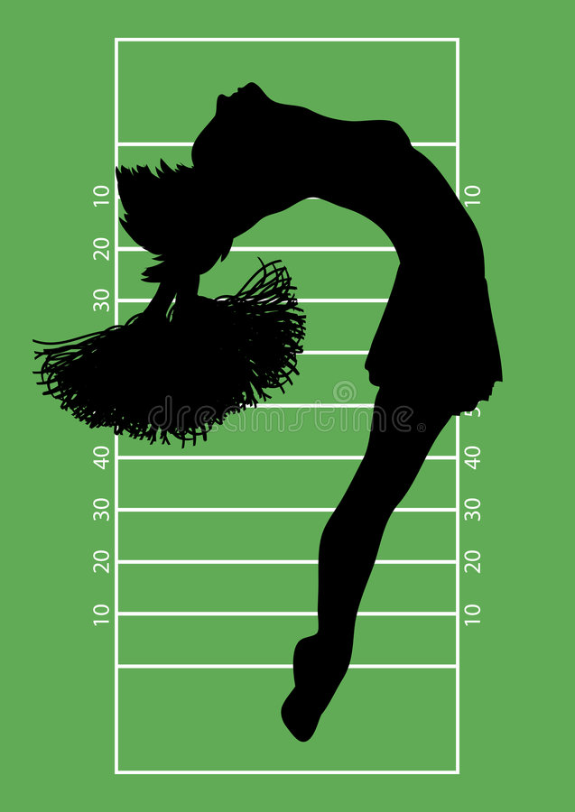 Fußball-Cheerleader 4 lizenzfreie abbildung