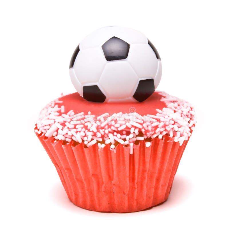 Fußball-Cup-Kuchen stockbilder
