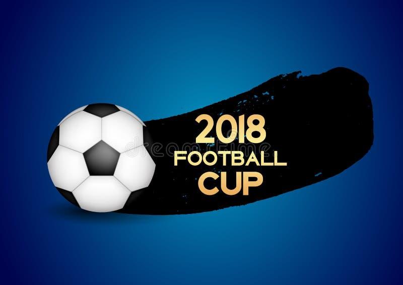 Fußball-Cup-Sport-Hintergrund-Vektor-Illustration 2018 stock abbildung