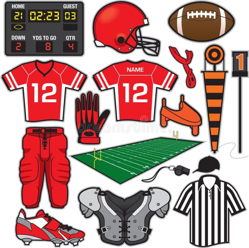 Fußball-Einzelteile vektor abbildung
