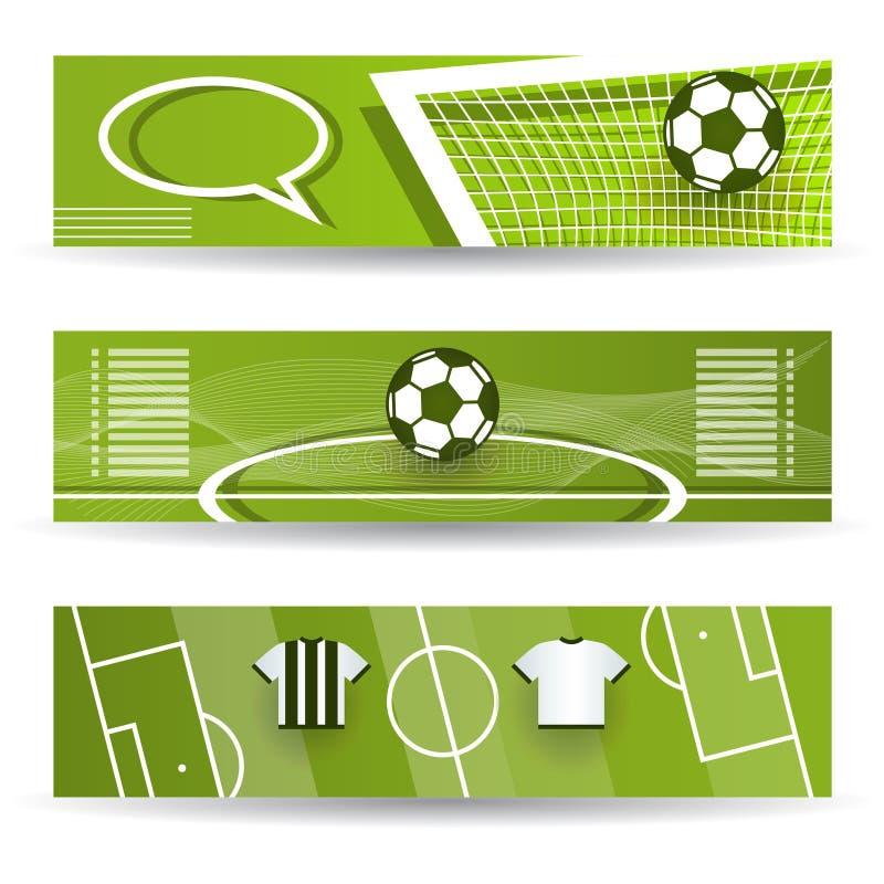 Fußball-Fahnen lizenzfreie abbildung