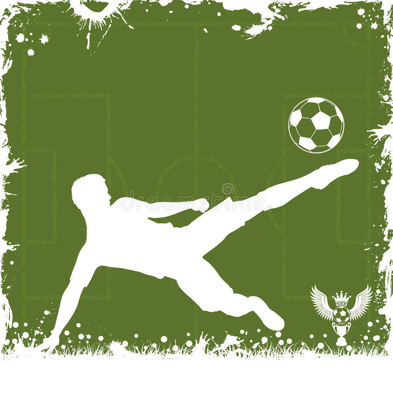 Fußball-Feld stock abbildung
