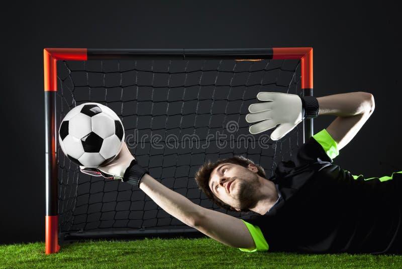 Fußball Fotball-Match Meisterschaftskonzept mit Fußball lizenzfreies stockbild
