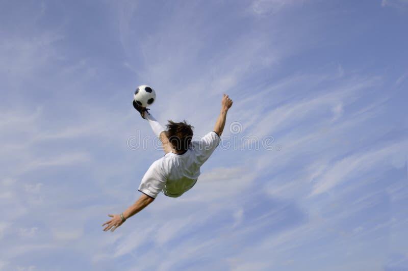 Fußball - Fußball - Fahrrad-Stoß stockfoto