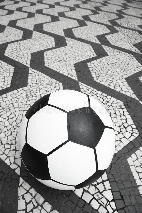 Fußball-Fußball-Sao Paulo Brazil Sidewalk stockfoto