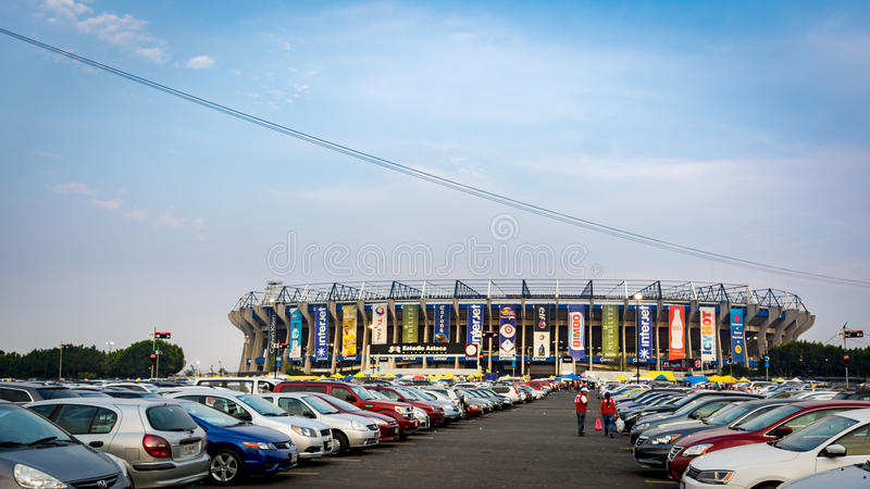 Fußball-Fußball-Stadion Estadio Azteca in Mexiko City lizenzfreies stockfoto