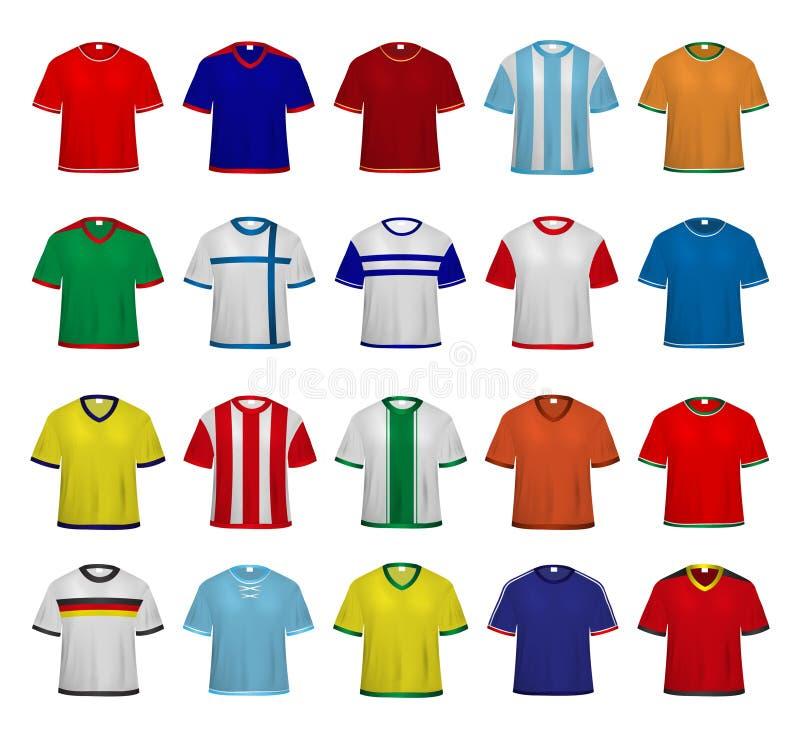 Fußball - Fußball-Trikots vektor abbildung. Illustration von ...