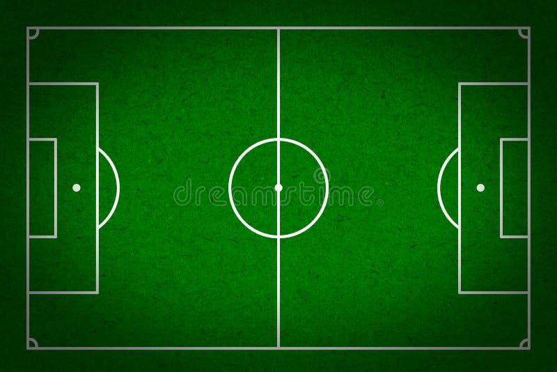 Fußball - Fußballplatz mit Zeilen auf grunge Papier lizenzfreies stockbild