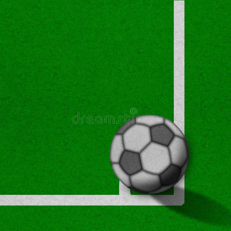 Fußball - Fußballplatz mit Zeilen auf grunge Papier lizenzfreies stockfoto