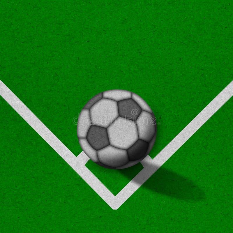 Fußball - Fußballplatz mit Zeilen auf grunge Papier lizenzfreie stockbilder
