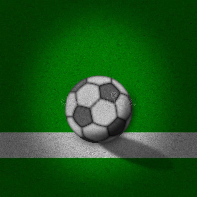 Fußball - Fußballplatz mit Zeilen auf grunge Papier lizenzfreie stockfotografie