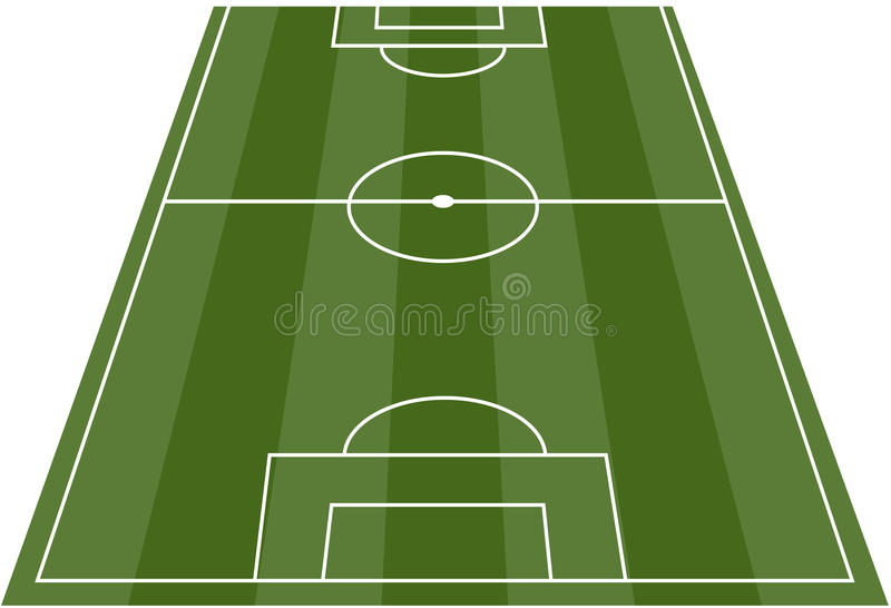 Fußball-Fußballplatznicken stock abbildung