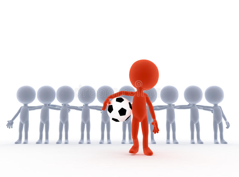 Fußball, Fußballteam stock abbildung
