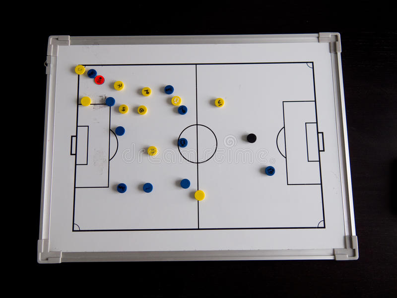 Fußball-Fußballvorstand stockfoto