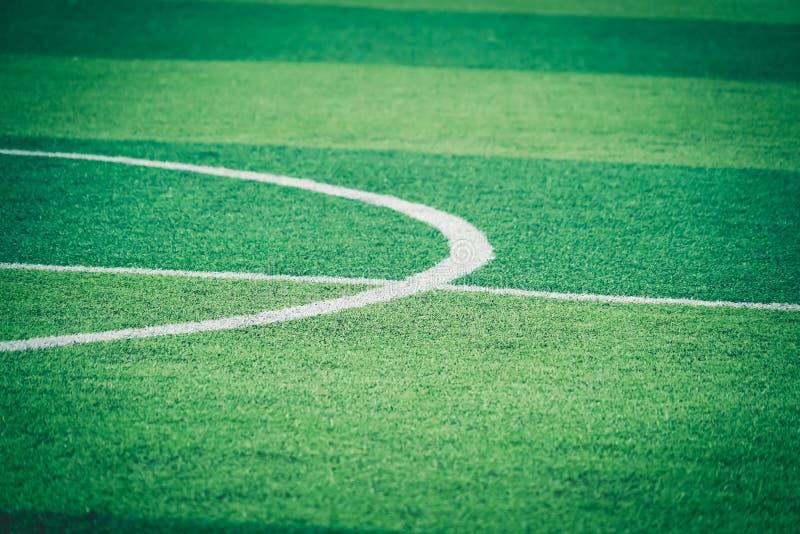 Fußball-Fußballweiße runde Mittellinie für Hintergrund lizenzfreies stockbild