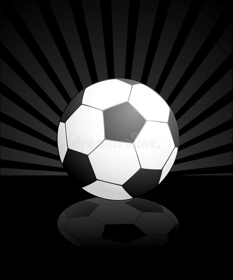 Fußball getrennt auf einem Schwarzen vektor abbildung
