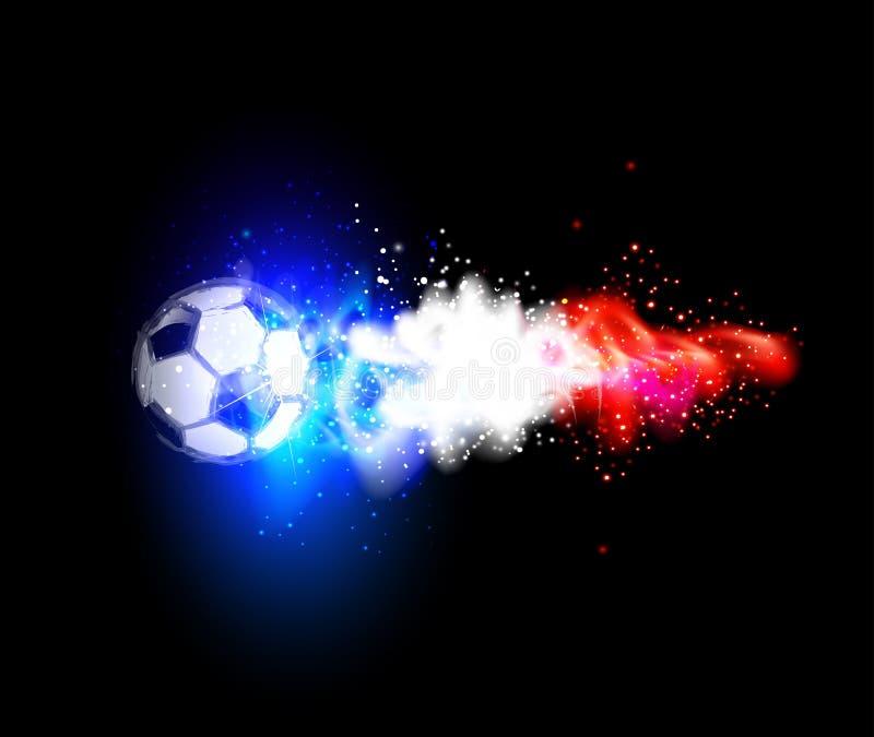 Fußball helles Frankreich mit Frankreich-Flaggen lizenzfreie abbildung