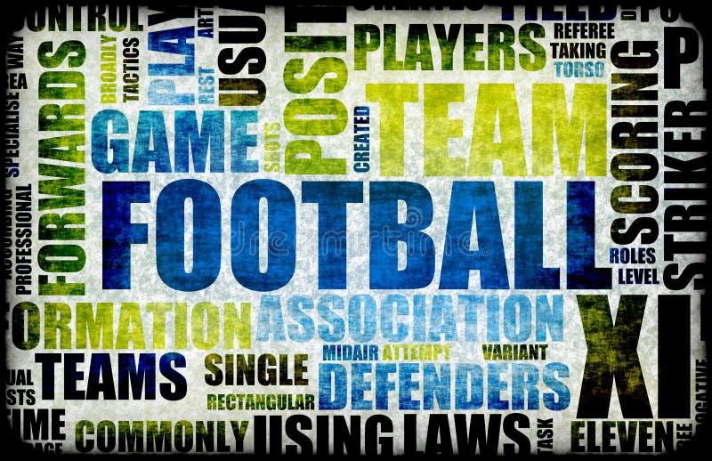 Fußball-Hintergrund stock abbildung