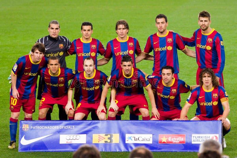 Fußball-Klumpen Barcelona 2011 stockbilder