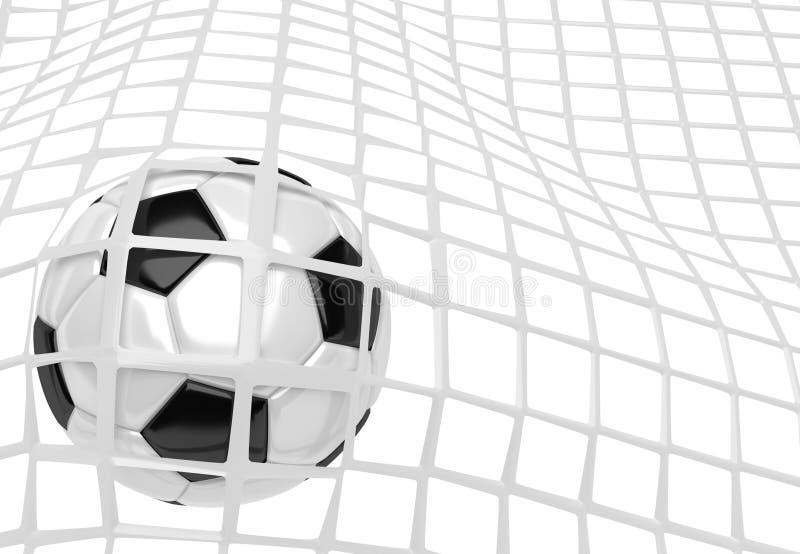 Fußball-Kugel im Netz lizenzfreie abbildung