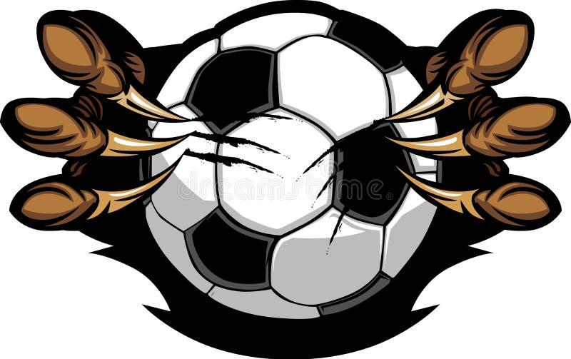 Fußball-Kugel mit Adlertalons-Bild vektor abbildung